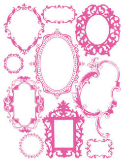 hambly studios rub ons antique frames pink