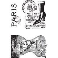 Hampton Arts - Graphic 45 - Clear Stamp Set - Paris