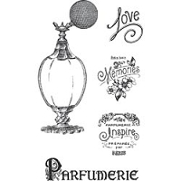 Hampton Arts - Graphic 45 - Clear Stamp Set - Parfumerie