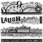 Hampton Art-Cling Stamp Set-Word Borders