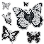 Hampton Art-Cling Stamp Set-Butterflies