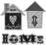 Hampton Art-Cling Stamp Set-Bird Houses