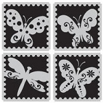 Hampton Art-Cling Stamp Set-I Cling Nature Postage