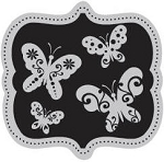Hampton Art-Cling Stamp Set-I Cling Butterfly Crest