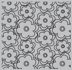 Hampton Art-Cling Stamp Set-Ditto Floral Background