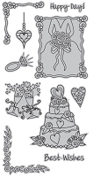 Hampton Art - Outlines  - Cling Mounted Stamp - Wedded Bliss