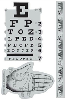 Hampton Art - 7 Gypsies - Cling Stamp Set - Eye Chart