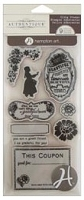 Hampton Art - Authentique - Cling Stamp Set - Greatful Heart