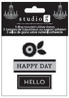 Hampton Arts - Cling Stamp Set - Happy Day