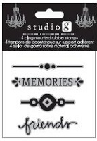 Hampton Arts - Cling Stamp Set - Memories