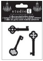Hampton Arts - Cling Stamp Set - Keys