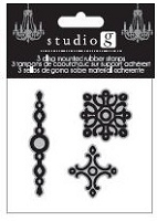 Hampton Arts - Cling Stamp Set - Linking Border