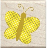 Hampton Arts - Studio G - Wood Mounted Stamp - Butterfly