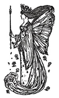 Hampton Art - Graphic 45 - Wood Mounted Stamp - Fairy 3