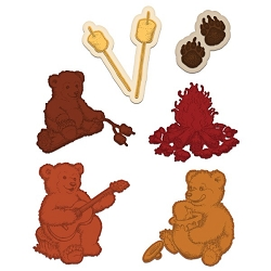 Heartfelt Creations - Cutting Die - Beary Fun Retreat Collection - Beary Fun Retreat Die