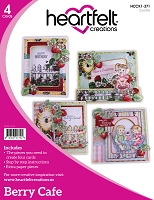 Heartfelt Creations - Berry Cafe Card Instruction Kit (does not include stamps)