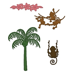 Heartfelt Creations - Cutting Die - Monkeying Around Collection - Palm Trees and Monkeys Die