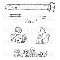 Heartfelt Creations - Pampered Pooch Collection - Pampered Pooch Pals Cling Stamp Set