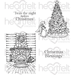 Heartfelt Creations - Winter's Eve Collection - Winter's Eve Cling Stamp Set