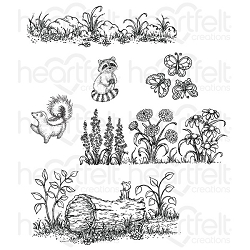 Heartfelt Creations - Woodsy Wonderland Collection - Woodsy Wonderland Cling Stamp Set