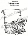 Heartfelt Creations-Cling Stamp-Bella Rose Scroll