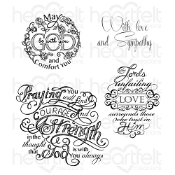 Heartfelt Creations - Special Edition Stamps - Courage and Strength Cling Stamp Set