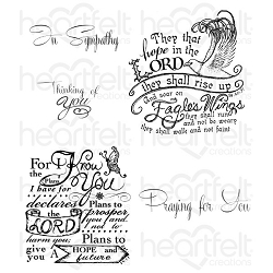 Heartfelt Creations - Special Edition Stamps - Soar on Eagle's Wings Cling Stamp Set