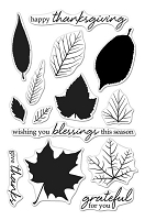 Hero Arts - Clear Stamp - Color Layering Grateful Leaves