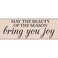 Hero Arts - Wood Mounted Rubber Stamp - Beauty Of The Season