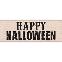 Hero Arts - Wood Mounted Rubber Stamp - Happy Halloween