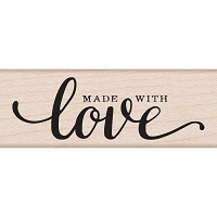 Hero Arts - Wood Mounted Rubber Stamp - Made W/Love Message