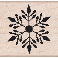 Hero Arts - Wood Mounted Rubber Stamp - Small Snowflake