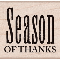 Hero Arts - Wood Mounted Rubber Stamp - Season of Thanks