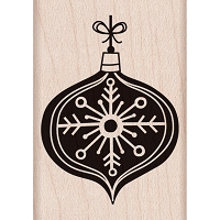 Hero Arts - Wood Mounted Rubber Stamp - Chalkboard Ornament