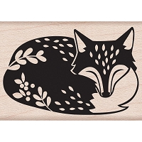 Hero Arts - Wood Mounted Rubber Stamp - Sleeping Fox by Lia