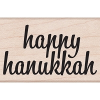 Hero Arts - Wood Mounted Rubber Stamp - Happy Hanukkah