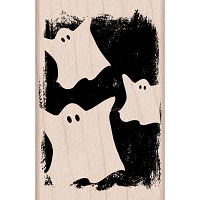 Hero Arts - Wood Mounted Rubber Stamp - Ghostly Pattern
