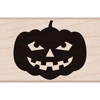 Hero Arts - Wood Mounted Rubber Stamp - Smiling Jack 'o Lantern