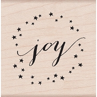 Hero Arts - Wood Mounted Rubber Stamp - Joy by Lia