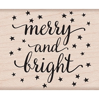 Hero Arts - Wood Mounted Rubber Stamp - Merry and Bright by Lia