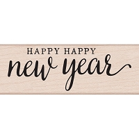 Hero Arts - Wood Mounted Rubber Stamp - Happy Happy New Year