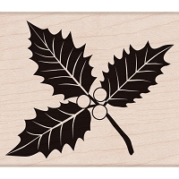Hero Arts - Wood Mounted Rubber Stamp - Poinsettia w/ Berries