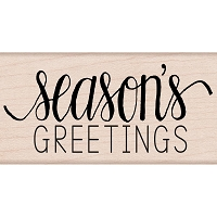 Hero Arts - Wood Mounted Rubber Stamp - Season's Greetings