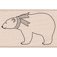 Hero Arts - Wood Mounted Rubber Stamp - Polar Bear