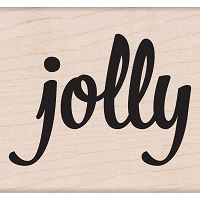 Hero Arts - Wood Mounted Rubber Stamp - Bold Jolly