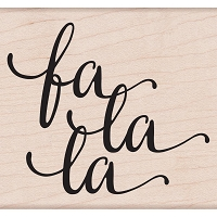 Hero Arts - Wood Mounted Rubber Stamp - Fa La La Message