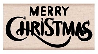 Hero Arts - Wood Mounted Rubber Stamp - Merry Christmas Calligraphy