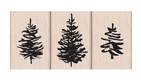 Hero Arts - Wood Mounted Rubber Stamp - Paintbrush Tree set
