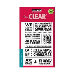 Hero Arts - Clear Stamp - Poster Christmas Carols