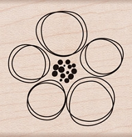 Hero Arts - Wood Mounted Rubber Stamp - Dauber Flower